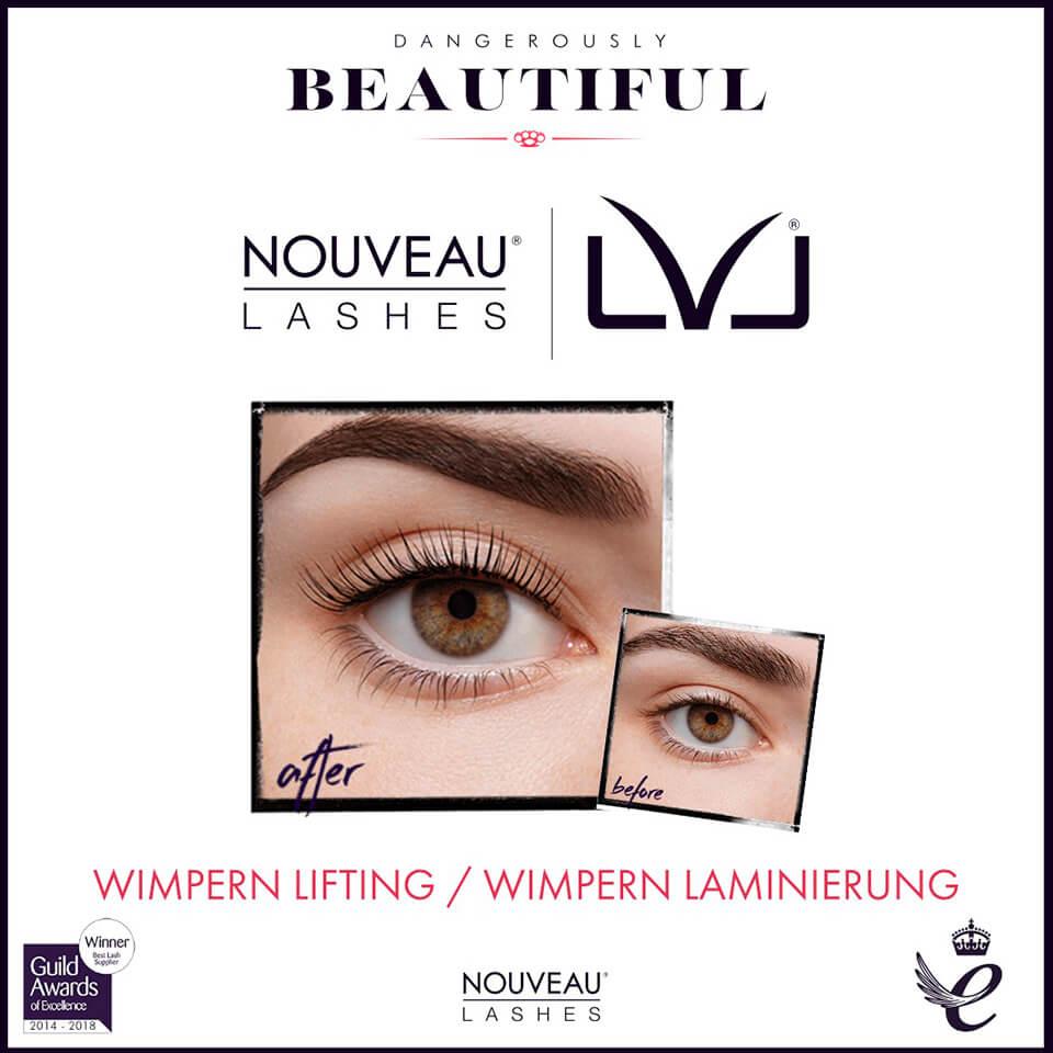 Nouveau Lashes Wimpern Lifting und Laminierung